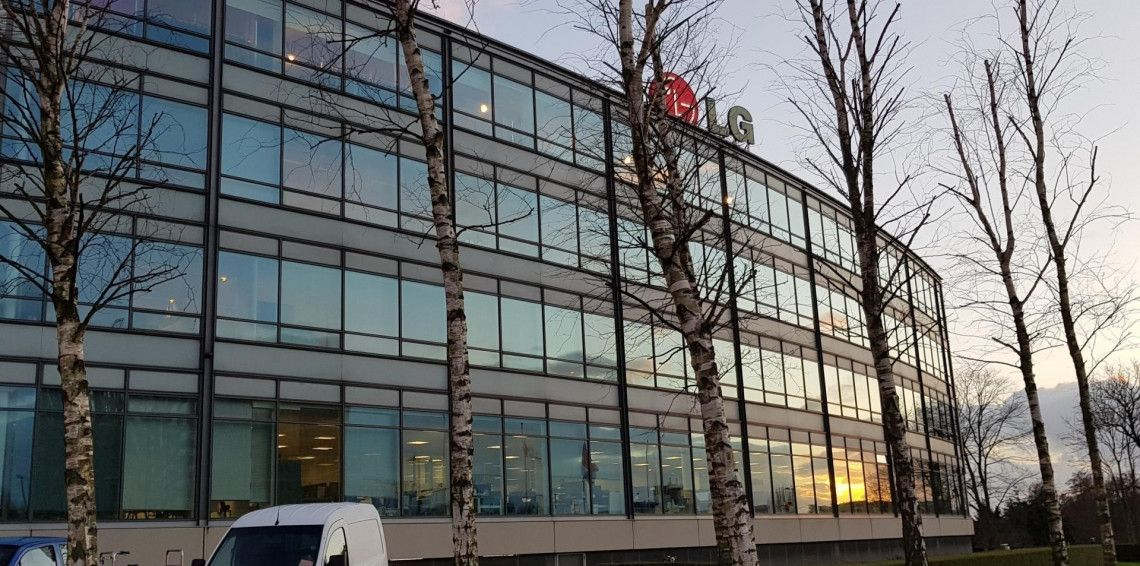 Secret Silver Mirror at head office of LG Electronics Benelux in Amstelveen The Netherlands