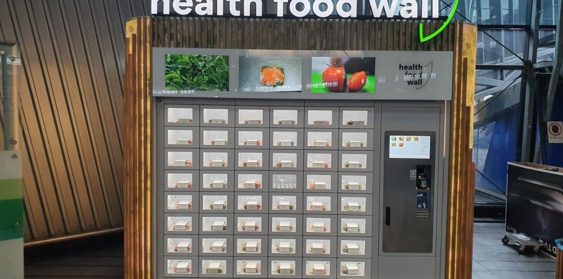 Heath Food Wall at Schiphol Plaza