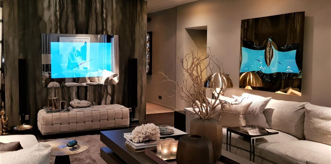 Oled Mirror TV at Eric Kuster Metropolitan Luxury the Netherlands