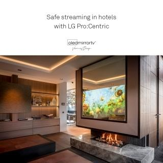 Safe streaming in hotels with LG Pro:Centric